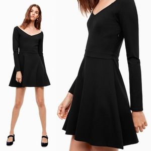 Aritzia Sunday Best Black Sparrow Ponte Dress M